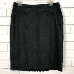 TRINA TURK Wool Blend Pencil Skirt sz 8 Pleated